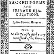 George Herbert (1593-1633) Art Print