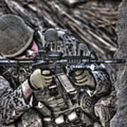 Hdr Image Of A German Army Soldier Art Print