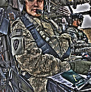 Hdr Image Of A Pilot Sitting Art Print