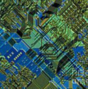 Microprocessor Art Print by Michael W. Davidson
