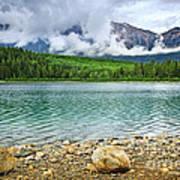 Mountain Lake In Jasper National Park Art Print