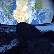 Near-earth Asteroid, Artwork Art Print by Detlev Van Ravenswaay