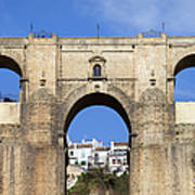 New Bridge In Ronda Art Print