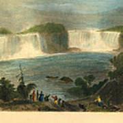 Niagara Falls, 1837 Art Print