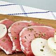 Pork Chops Raw Art Print by Blink Images