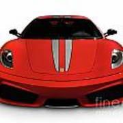 Red Ferrari F430 Scuderia Art Print