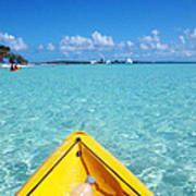 Relaxing At Coco Cay In The Bahamas Art Print