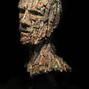 Revered  A Natural Portrait Bust Sculpture By Adam Long Art Print by Adam Long