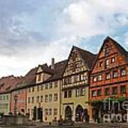 Rothenburg Medieval Old Town  Art Print