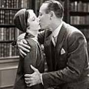 Silent Film Still: Kissing Art Print