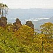 3 Sisters Blue Mountains Art Print