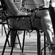 Stripped Dress Art Print