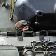 Tank Driver Of A Leopard 1a5 Mbt Art Print