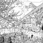 Taufers Knights Castle Valle Aurina Italy Art Print by Joseph Hendrix