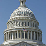The United States Capitol Building Dome Art Print