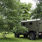 Unimog Truck Of The Belgian Army Art Print