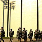 U.s. Army Soldiers Prepare To Board Art Print