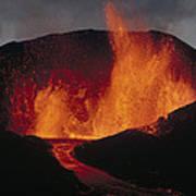 Volcanic Eruption, Spatter Cone Art Print