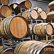 Wine Barrels Art Print