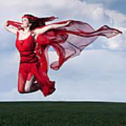 Woman In Red Series Art Print