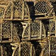 Wooden Lobster Traps Art Print
