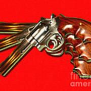357 Magnum - Painterly - Red Art Print
