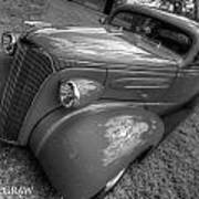 37 Chevy Coupe Bw Art Print
