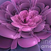 3d Flower Art Print by John Edwards