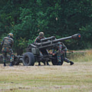 A Belgian Artillery Unit Setting Art Print by Luc De Jaeger