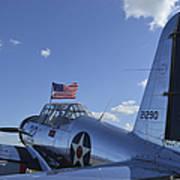 A Bt-13 Valiant Trainer Aircraft Art Print