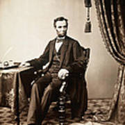 Abraham Lincoln 1809-1865, U.s Art Print by Everett