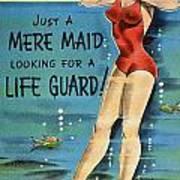 American Postcard, C1950 Art Print
