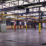 An Empty Industrial Building In Los Art Print by Dan Kaufman