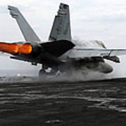 An Fa-18c Hornet Launches Art Print