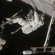 Astronaut Working On The International Art Print