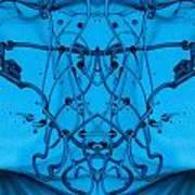 Blue Paint Art Print by Odon Czintos