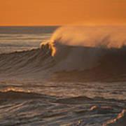 Breaking Surf At Sunset In La Jolla Art Print