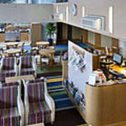 Business Lounge At An Airport Art Print