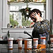 Depression And Addiction Art Print