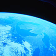Earth Viewed From A Satellite Art Print by Stockbyte