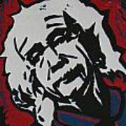 Einstein 2 Art Print by William Cauthern