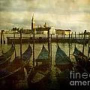 Gondolas. Venice Art Print