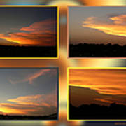 4 In 1 Sunsets Art Print