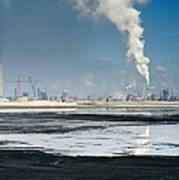 Oil Industry Pollution Art Print