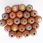 Row Of Colorful Crayons Art Print