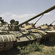 Russian T-54 And T-55 Main Battle Tanks Art Print