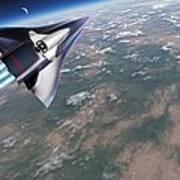 Saenger-horus Spaceplane, Artwork Art Print by Detlev Van Ravenswaay
