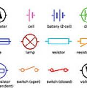 Astounding Standard Electrical Circuit Symbols Art Print By Sheila Terry Wiring Cloud Aboleophagdienstapotheekhoekschewaardnl