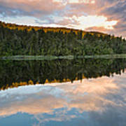 Sunrise Above A Lake On A Wind Still Morning Art Print