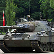 The Leopard 1a5 Mbt Of The Belgian Army Art Print